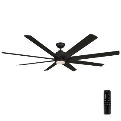 Kensgrove 72 in. Integrated LED Indoor/Outdoor Matte Black Ceiling Fan with Light and Remote Control
