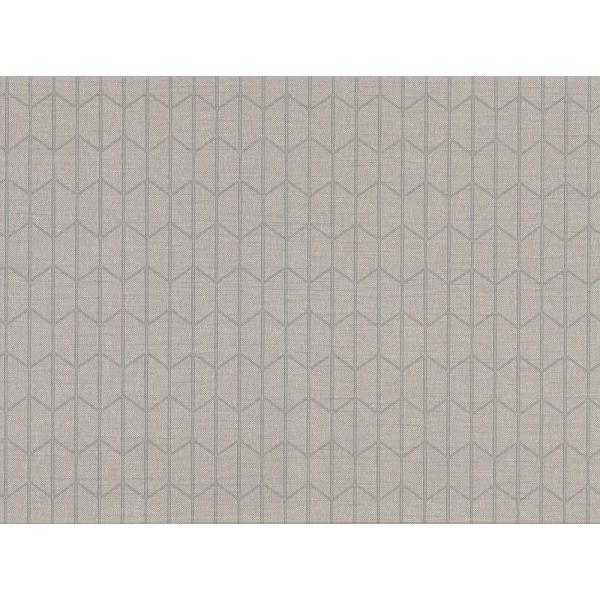 60.8 sq. ft. Gauntlet Grey Geometric Wallpaper