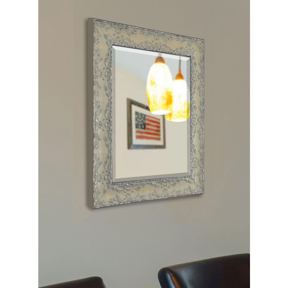 36 x 42 mirror glass products 36 in 24 maclaren pewter beveled vanity wall mirror 42 mirrorr079lv