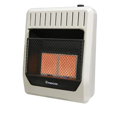 20000 BTU Ventless Dual Fuel Radiant Heater with Thermostat Control