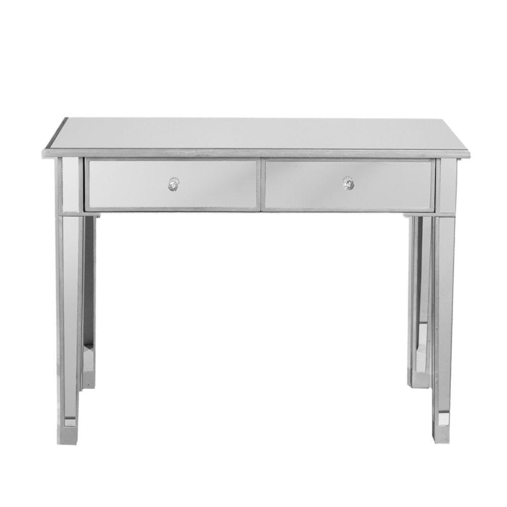 Southern Enterprises Mirage 2-Drawer Mirrored Console Table