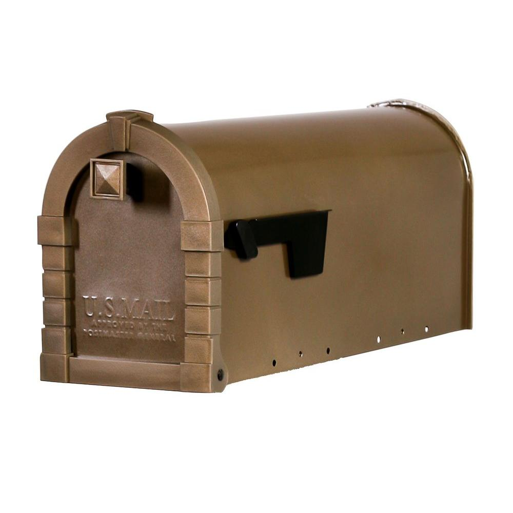 Gibraltar Mailboxes Dennison Decorative Desert Gray Steel