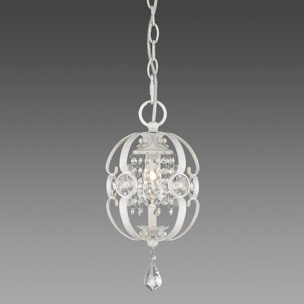 Ella 1-Light French White Pendant Light
