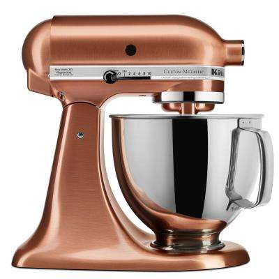 Custom Metallic 5 Qt. 10-Speed Satin Copper Stand Mixer