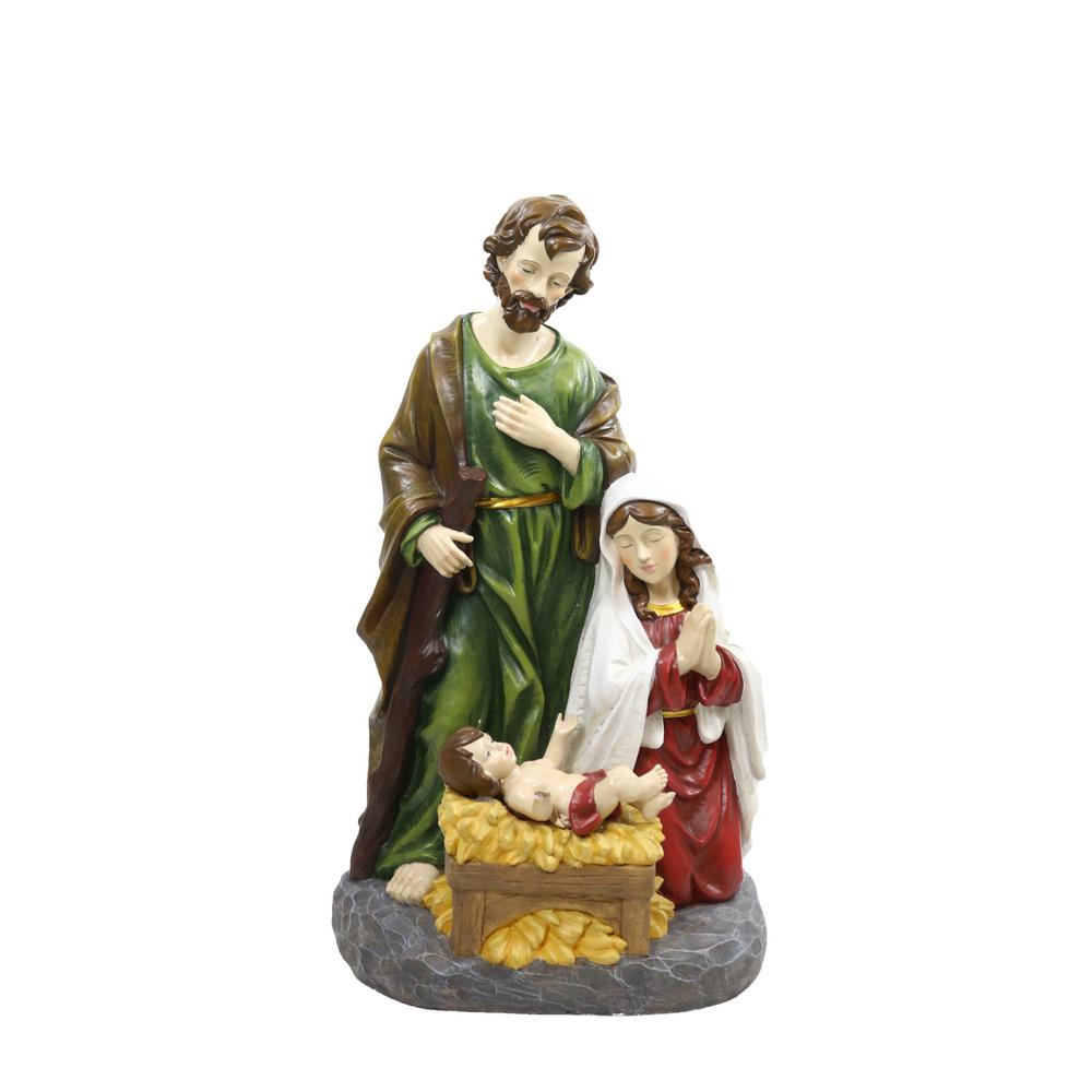 Nativity Scene with 6 Led Lights Statuary