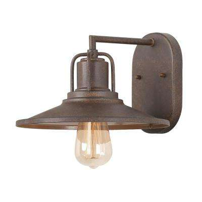 1-Light Rust Wall Mount Sconce