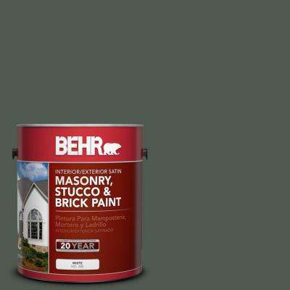 1 gal. #N410-7 North Woods Satin Interior/Exterior Masonry, Stucco and Brick Paint