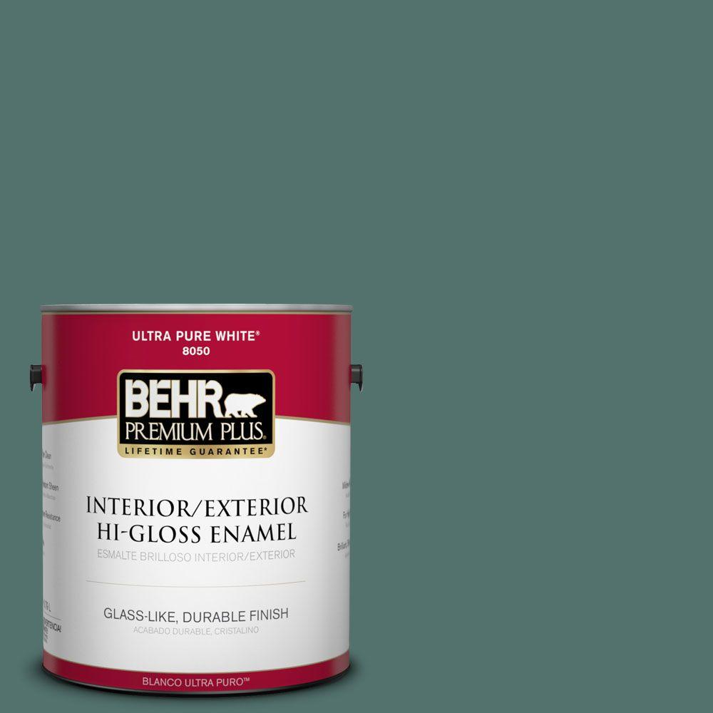 1 gal. #HDC-WR16-04 Noble Fir Interior/Exterior Hi-Gloss Enamel Paint
