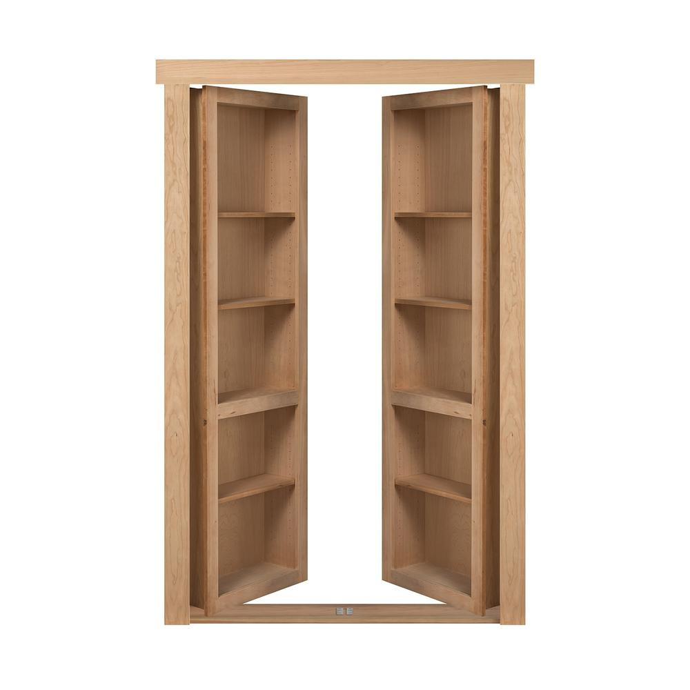 The Murphy Door 60 In X 80 In Flush Mount Assembled Cherry Unfinished Universal Solid Core