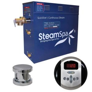SteamSpa Oasis 7.5kW Steam Bath Generator Package in Chrome by SteamSpa