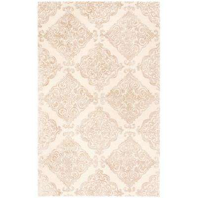 Glamour Ivory/Beige 5 ft. x 8 ft. Area Rug