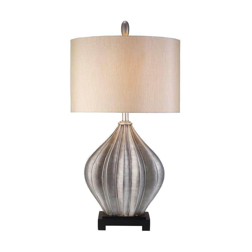 33 in. Antique Brass Nautilus Table Lamp