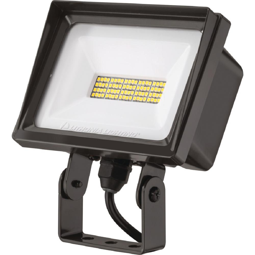 Lithonia Lighting Led Outdoor Flood Light: Lithonia Lighting QTE 40-Watt Bronze Outdoor Integrated