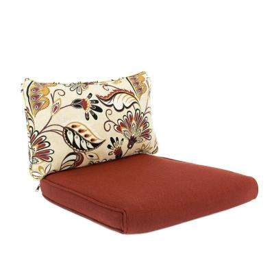 Woodbury 18 x 17 Outdoor Dining Chair Cushion in Standard Chili