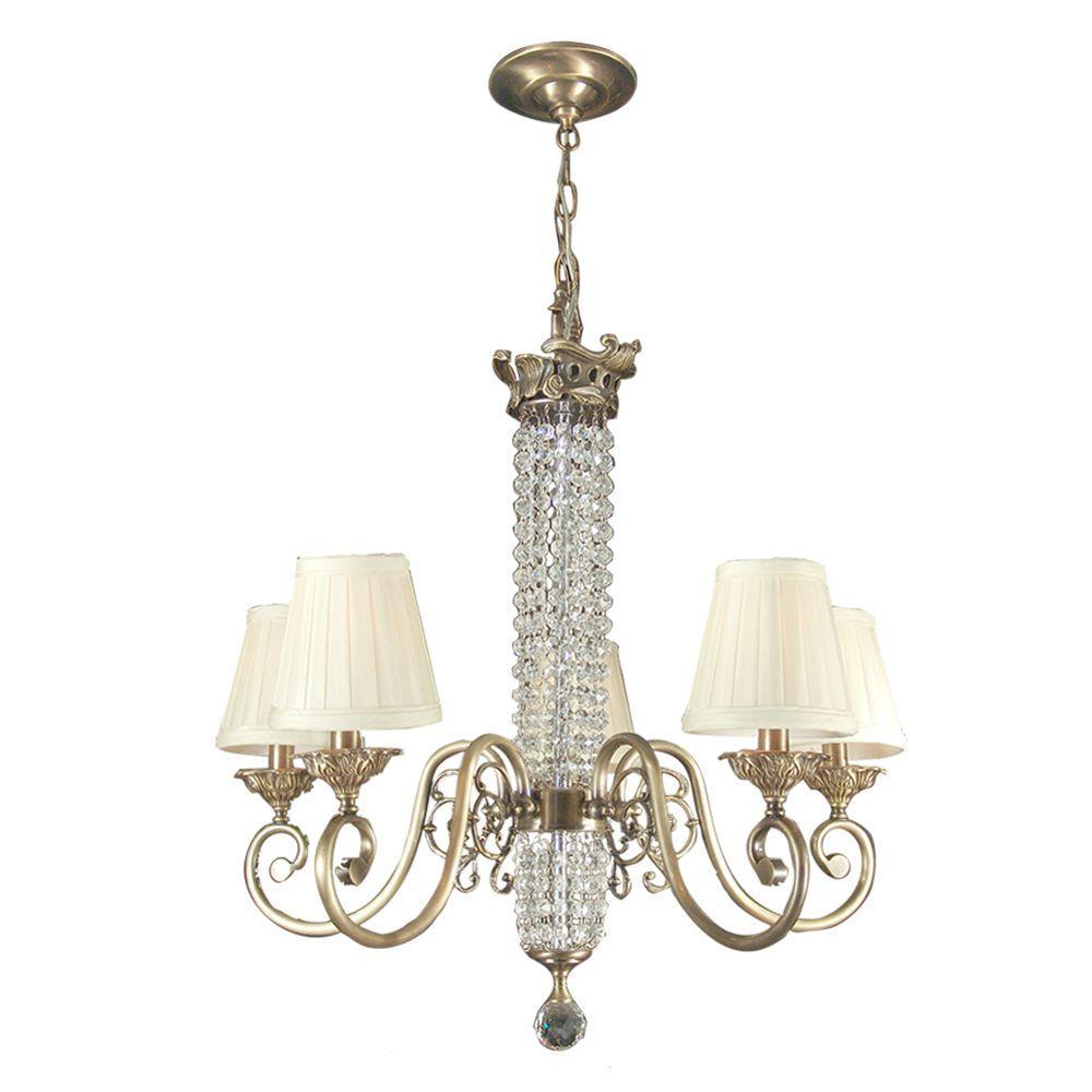Dale Tiffany Spanish 5-Light Antique Brass Chandelier
