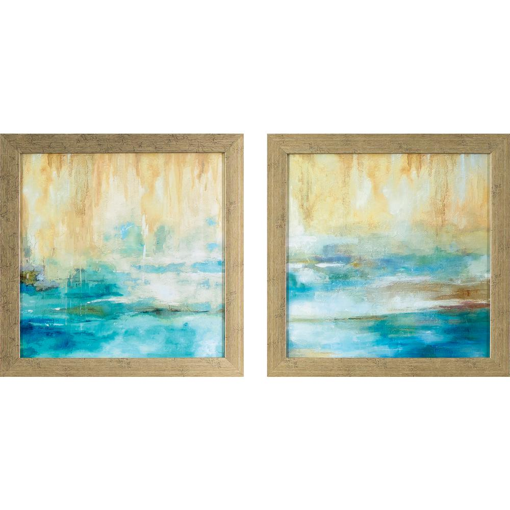 13.75 in. x 13.75 in. Turquoise Waters Printed Framed Wall Art