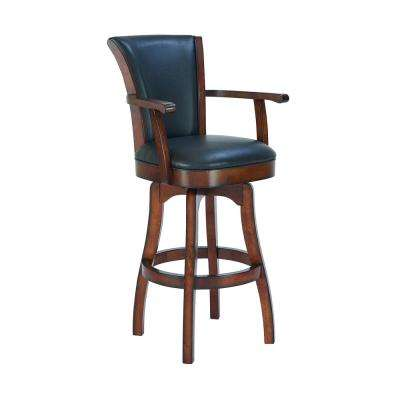 Raleigh 45 in. Brown Arm Barstool