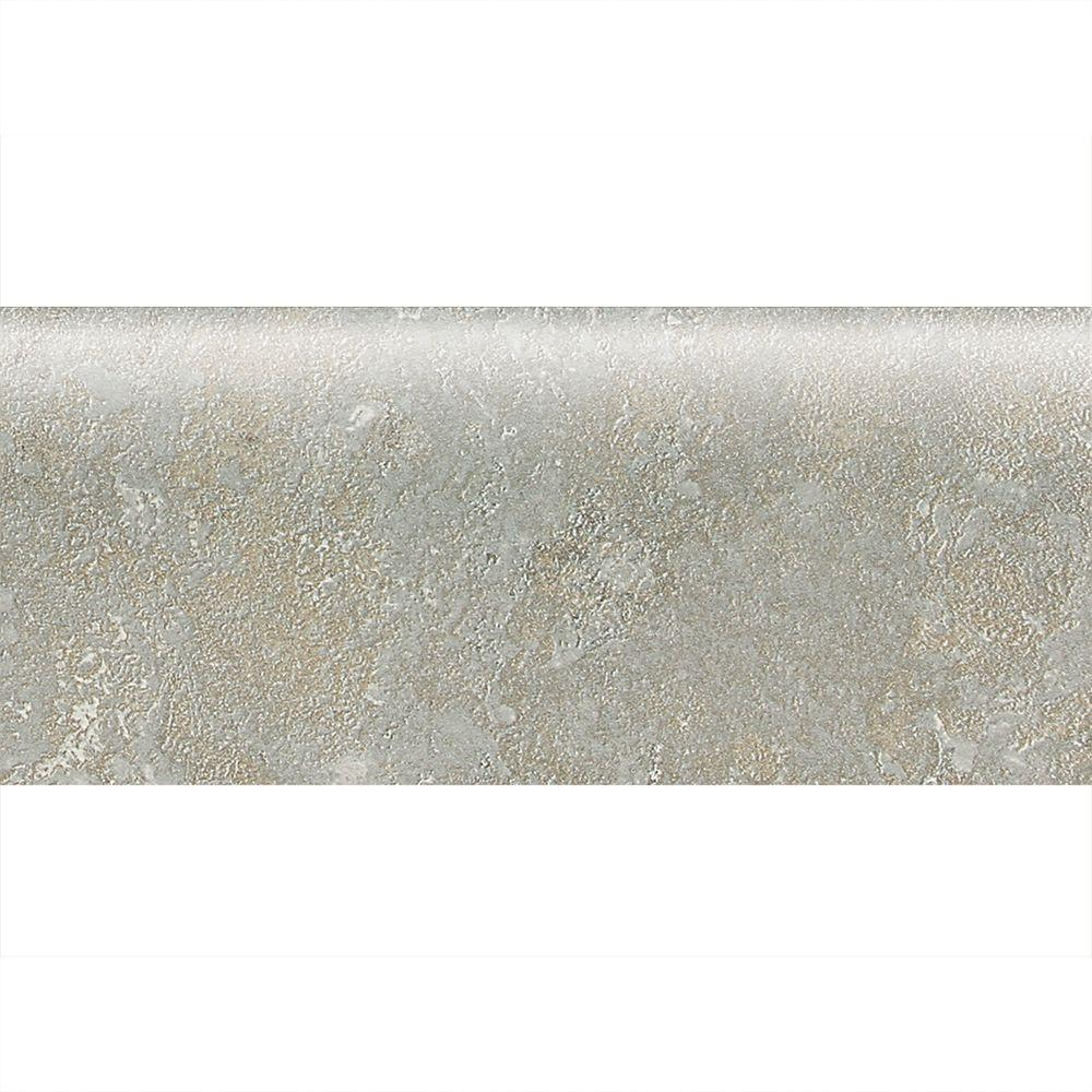 Sandalo Castillian Gray 2 in. x 6 in. Ceramic Bullnose Wall