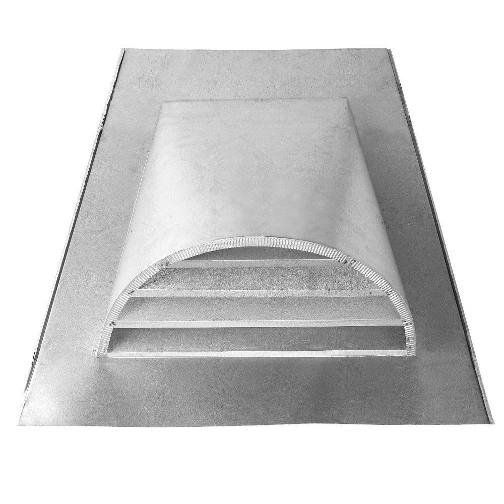Construction Metals 12 in. x 24 in. Galvanized Steel Half-Round Dormer Vent