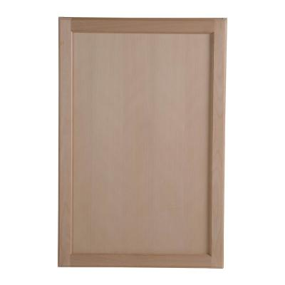 Easthaven Shaker Assembled 24x36x12 in. Frameless Wall Cabinet in Unfinished Beech