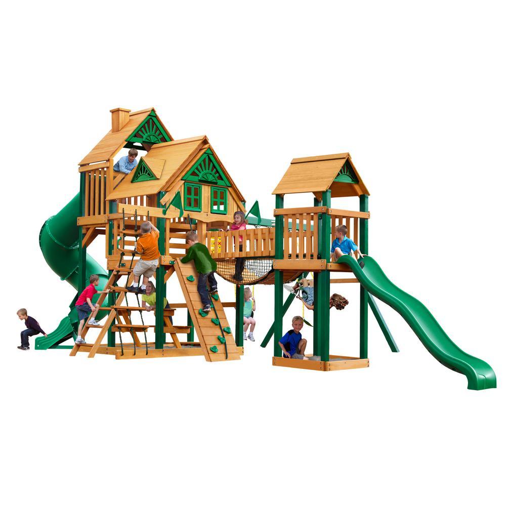 Gorilla Playsets Treasure Trove I Treehouse Cedar