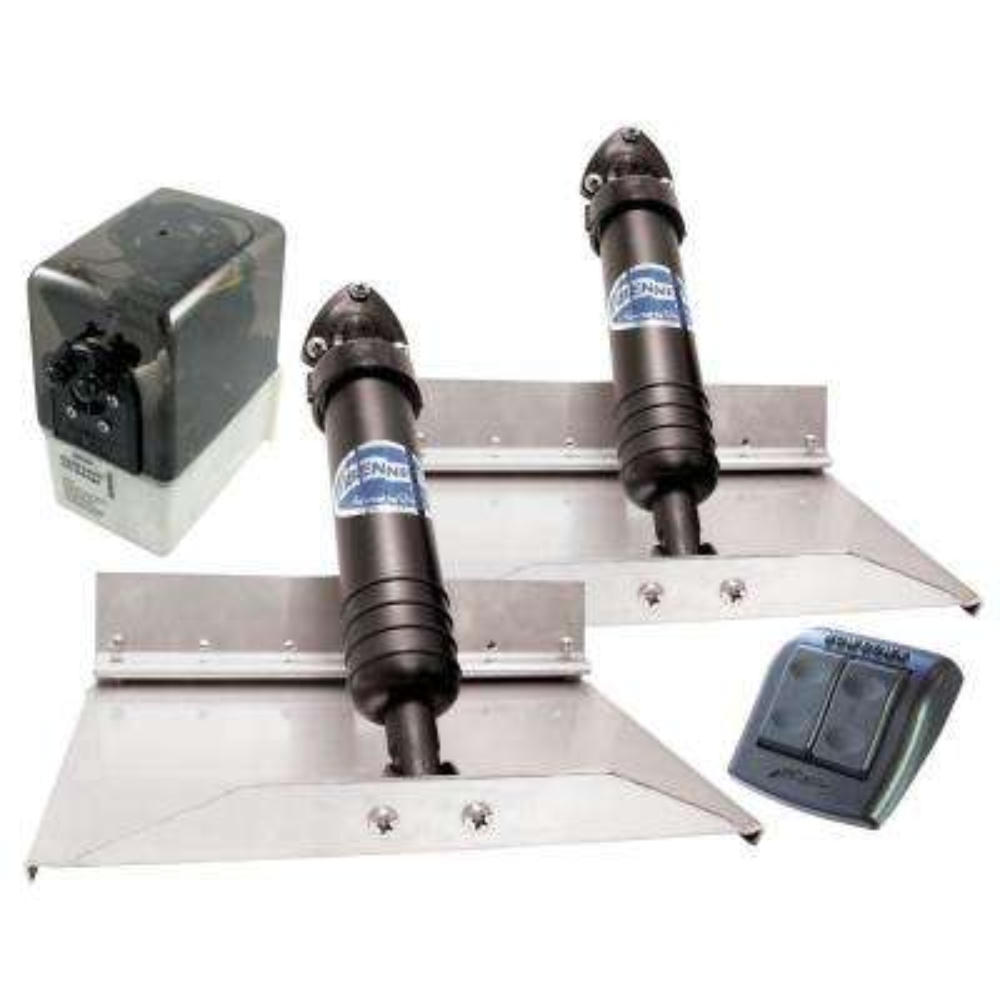 12 in. x 9 in. Hydraulic Trim Tab Set with Euro-Style Control