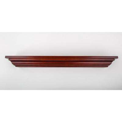 24 in. L x 5 in. D Floating Dark Cherry Crown Molding Decorative Ledge Shelf