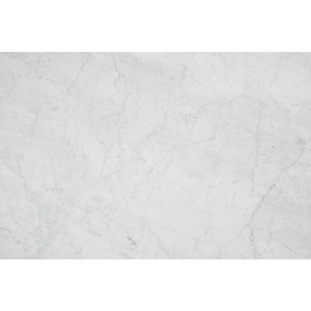 3 in. x 3 in. Marble Countertop Sample in Bianco Carrara