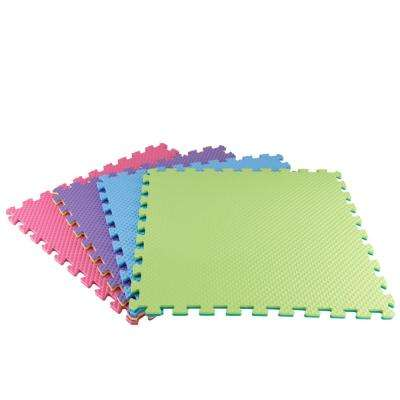 Primary Pastel 24 in. x 24 in. x 0.47 in. Playroom Floor (4-Pack)