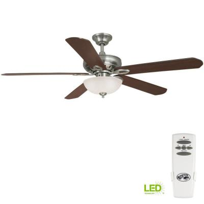 Asbury 60 in. LED Indoor Brushed Nickel Ceiling Fan with Light Kit and Remote Control