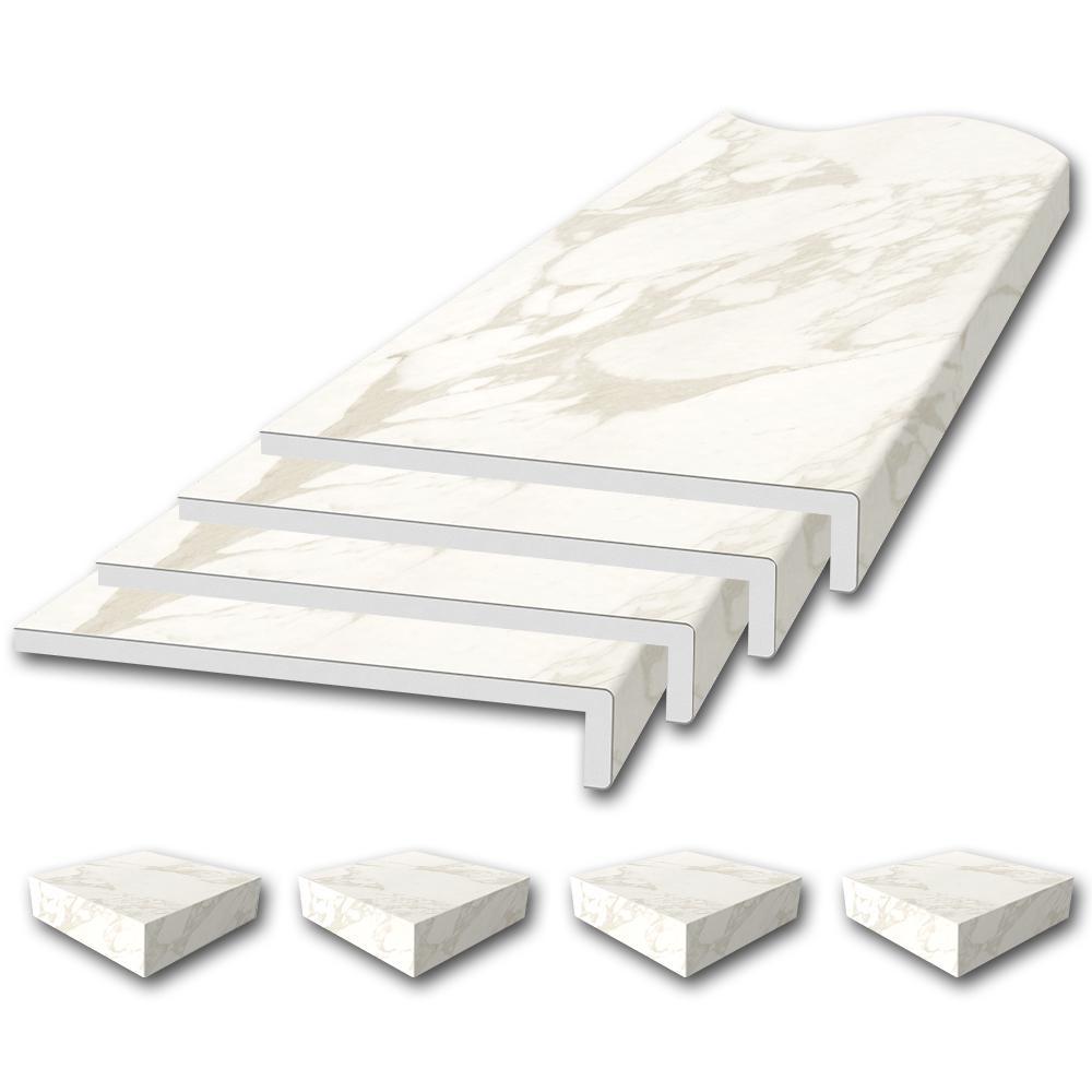 Flexstone Window Sill Trim Kit In Calacatta Cream