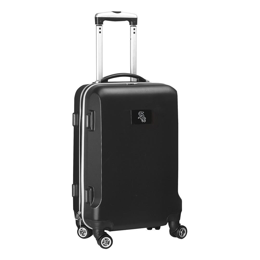 Denco MLB Chicago White Sox Black 21 in. Carry-On Hardcase Spinner Suitcase