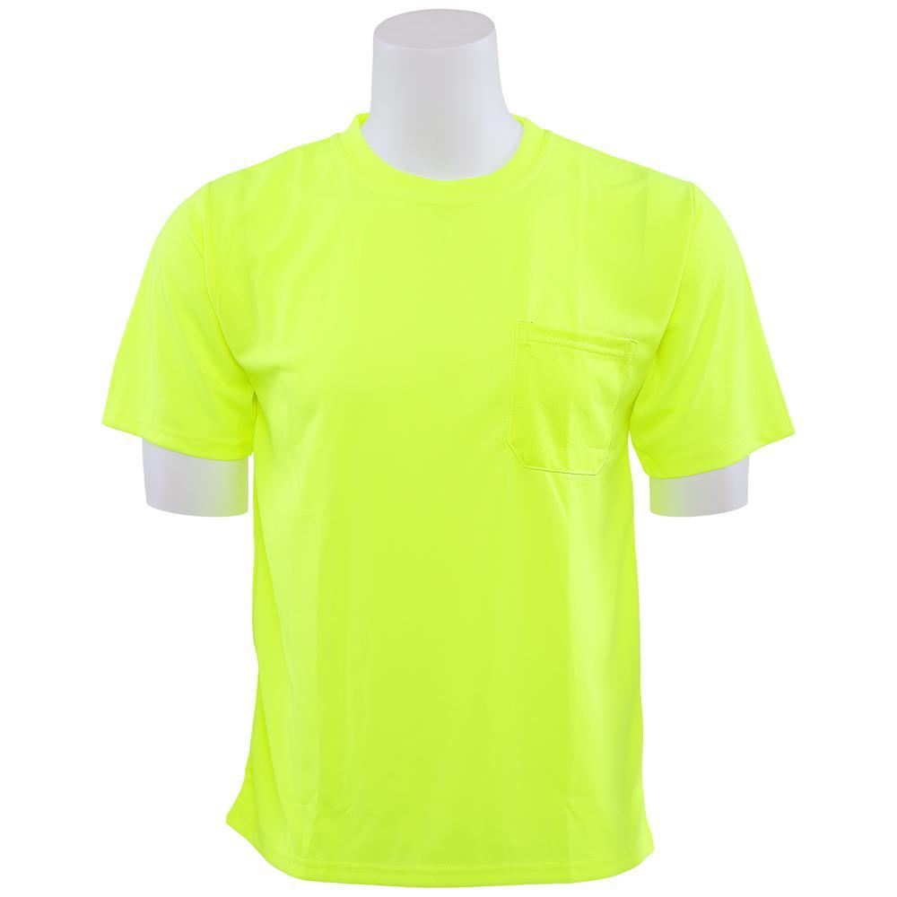 9006 5X Non-ANSI Poly Birdseye Mesh Hi Viz Lime T-Shirt