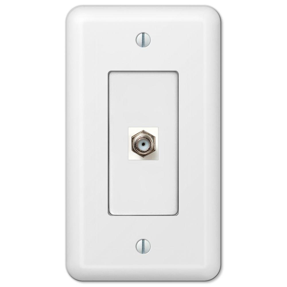 Commercial Electric Network And Coax Wall Plate 217f 8c Wh The Coaxial Socket Wiring Diagram Devon 1 White