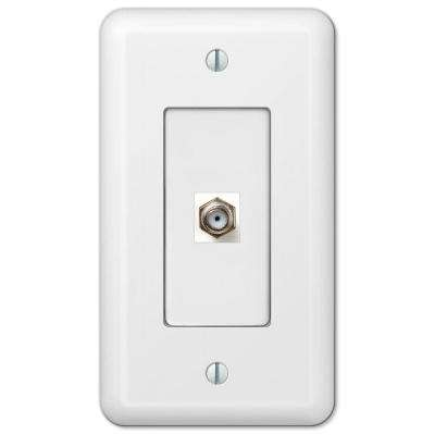 Devon 1 Coax Wall Plate - White