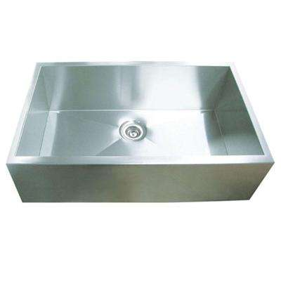 Hardy Undermount Stainless Steel 32 in. Single Bowl Kitchen Sink