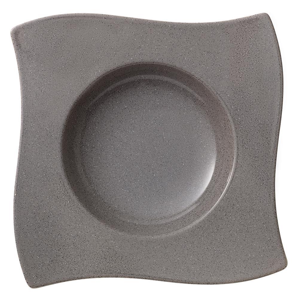 Villeroy & Boch New Wave Gray Stone Porcelain Rim Soup Bowl by Villeroy & Boch
