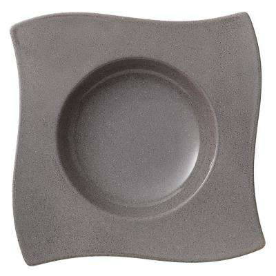 New Wave Gray Stone Porcelain Rim Soup Bowl