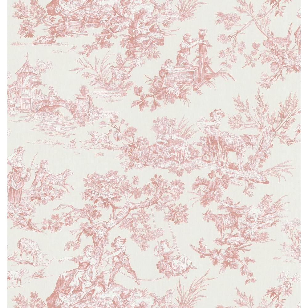 Brewster 56 sq. ft. Toile Wallpaper-DISCONTINUED