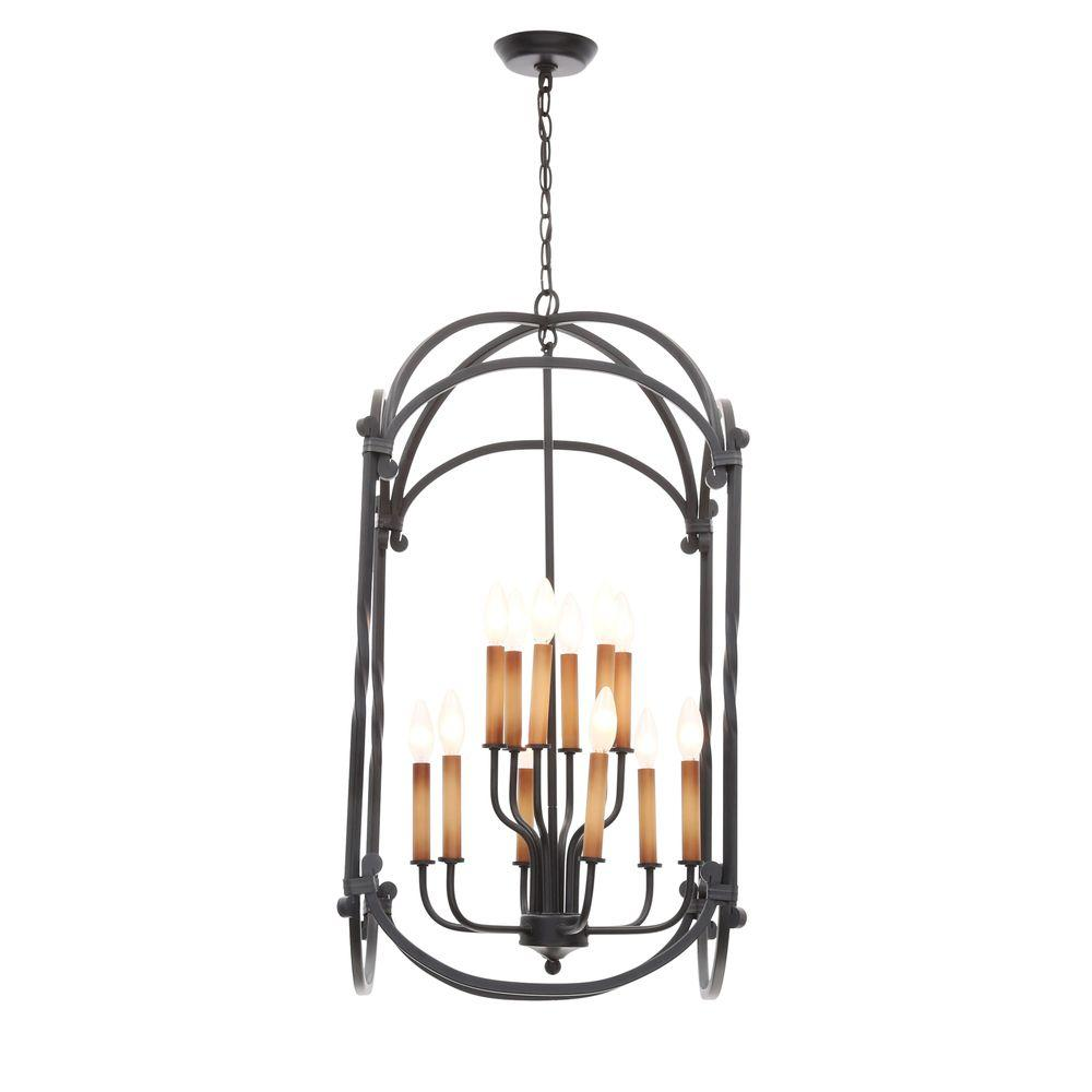 World Imports Hastings Collection 12-Light Rust Hanging Lantern
