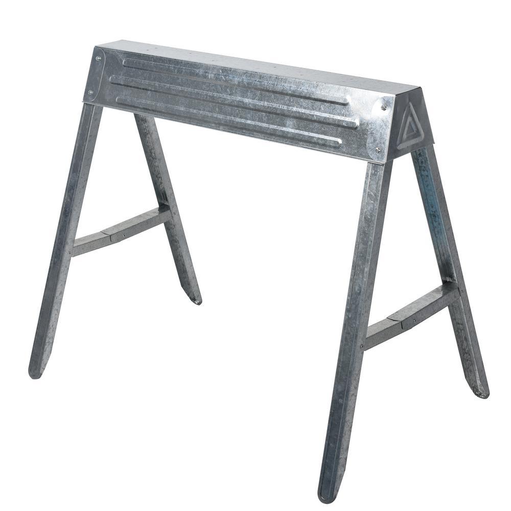 Strange Hdx 1 Compartment Steel Folding Sawhorse Download Free Architecture Designs Scobabritishbridgeorg