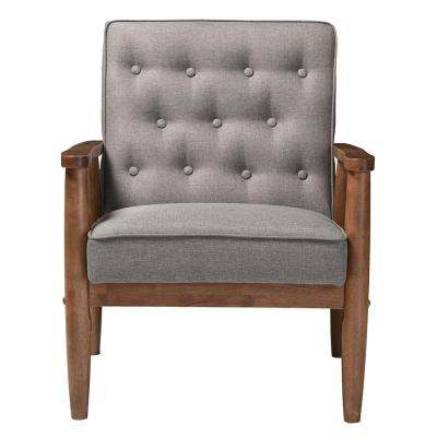 Sorrento Mid-Century Gray Fabric Upholstered Accent Chair