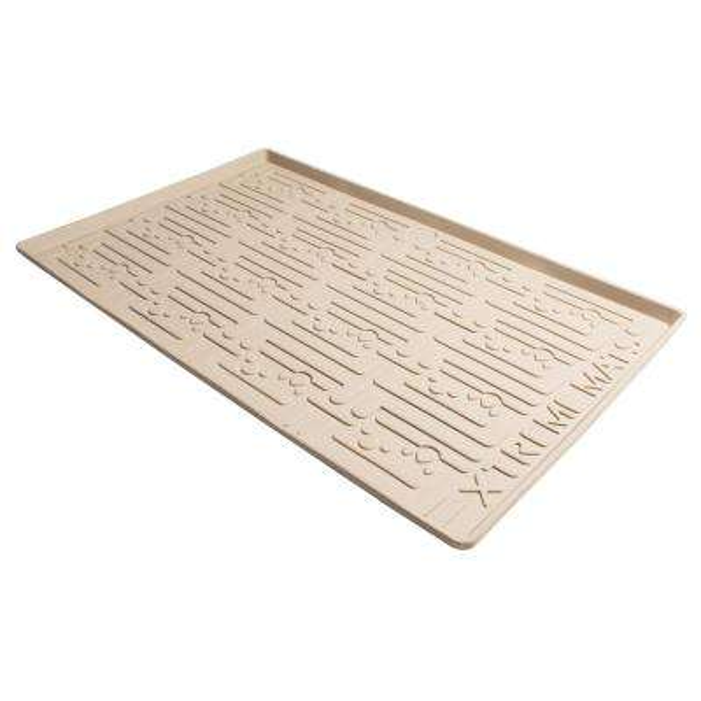 33-5/8 in. x 21-7/8 in. Beige Kitchen Depth Under Sink Cabinet Mat Drip Tray Shelf Liner