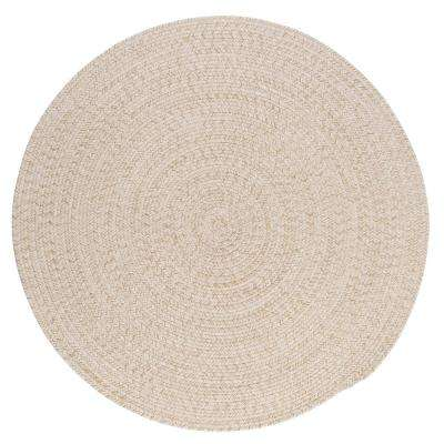 Cicero Natural 4 ft. x 4 ft. Braided Round Area Rug