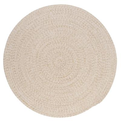 Cicero Natural 10 ft. x 10 ft. Round Braided Area Rug