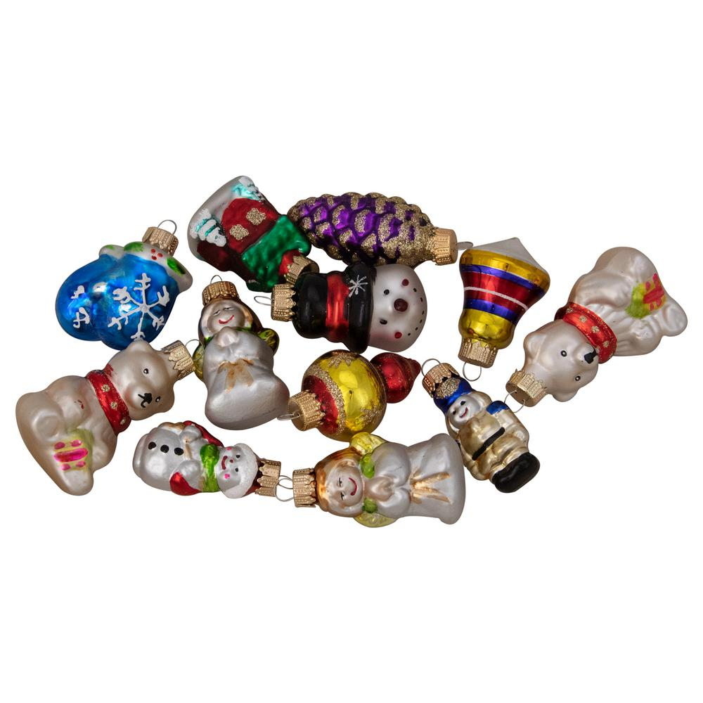 Northlight 12ct Assorted Iconic Winter And Christmas Figurine Ornament Set 2 To Set 3 32815902 The Home Depot