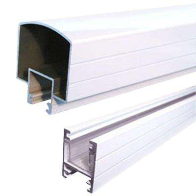 4 ft. Aluminum Hand and Base Rail in White