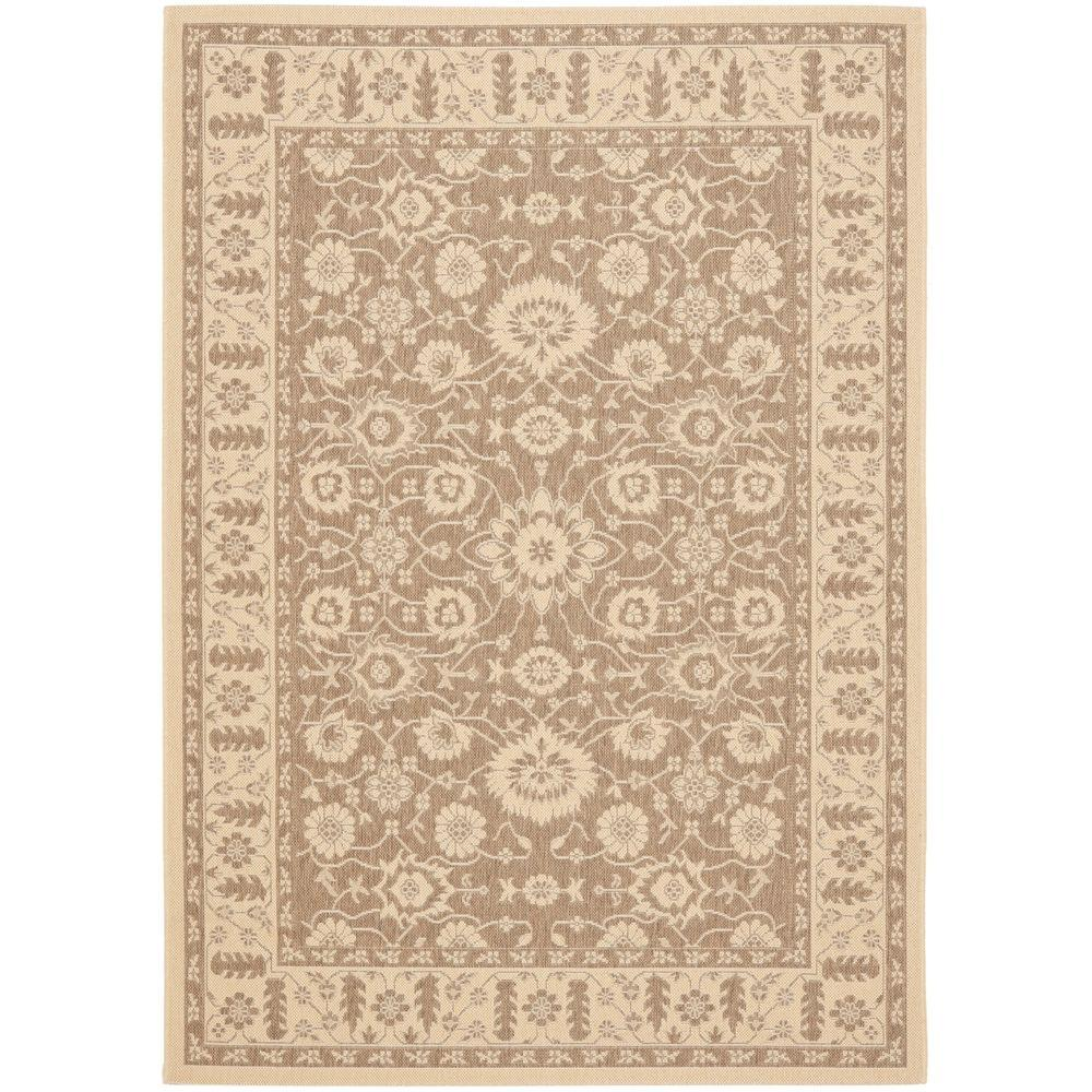Courtyard Brown/Cream 6 ft. 7 in. x 9 ft. 6 in.