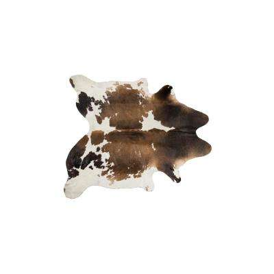 KOBE COWHIDE TAUPE/WHITE 5 ft. x 7 ft. AREA RUG
