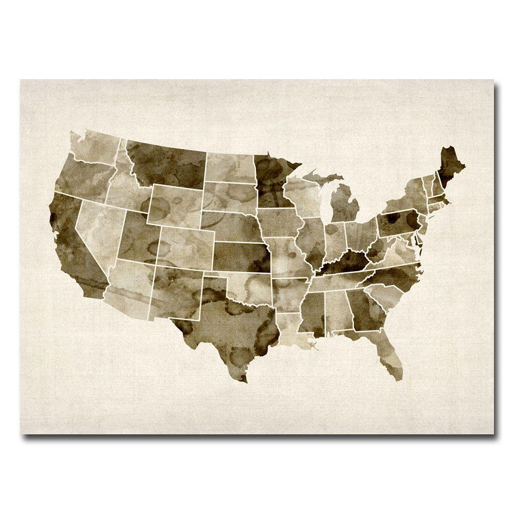 null 24 in. x 32 in. US - Watercolor Canvas Art